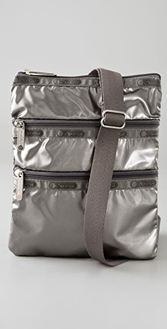 LeSportsac Graphite Shimmer Kasey Mini Messenger Bag