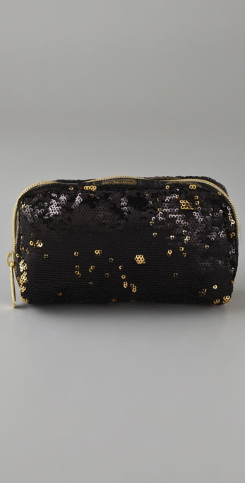 LeSportsac Black Gold Cosmetic Bag