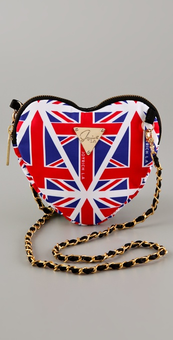 LeSportsac JOYRICH Union Jack Heart Cross Body Pouch