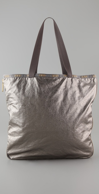 LeSportsac Crackled Zipper Tote