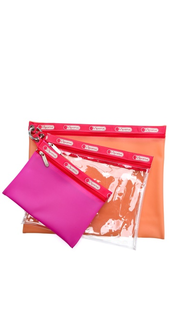 LeSportsac Clear Pouch Set