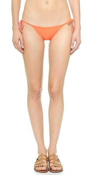Shop Luli Fama online and buy Luli Fama Wild Card Tie Side Bikini Bottoms - Hot Mess swimwear online