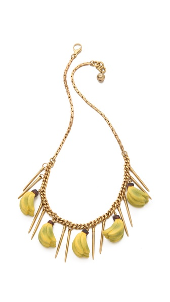 Lulu Frost Banana Necklace