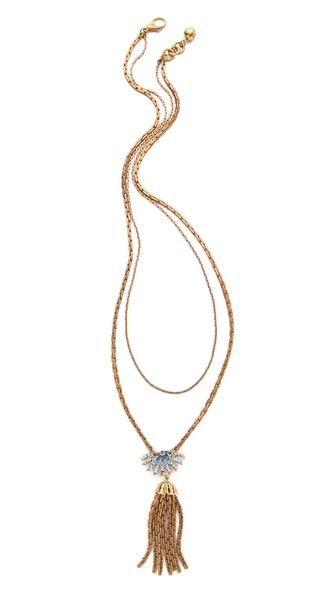 Lulu Frost Sunburst Tassel Necklace