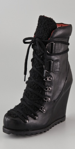 Luxury Rebel Shoes Trenton Wedge Booties