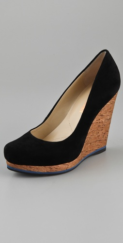 Luxury Rebel Shoes Selma Cork Wedge Pumps