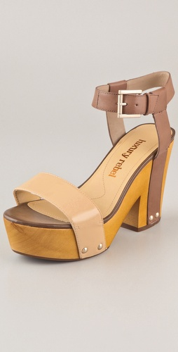 Luxury Rebel Shoes Fern Wood Platform Sandals