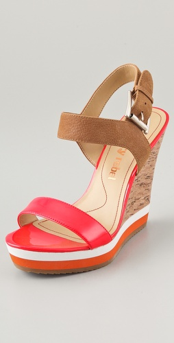 Luxury Rebel Shoes Dani Colorblock Wedge Sandals