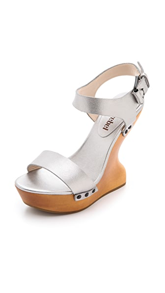 Luxury Rebel Shoes Garance Wood Wedges