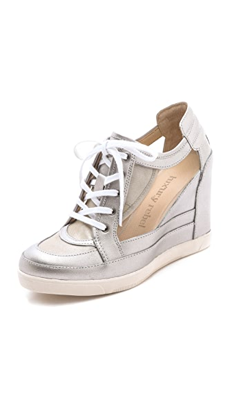 Luxury Rebel Shoes Carlton Metallic Wedge Sneakers