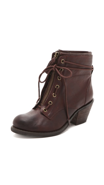 Luxury Rebel Shoes Barret Lace Up Booties