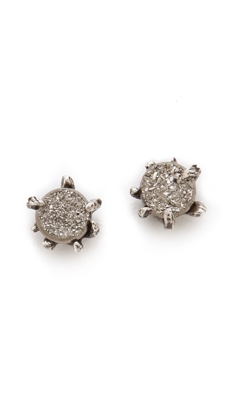 Lauren Wolf Jewelry Druzy Stud Earrings