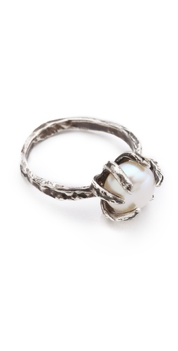 Lauren Wolf Jewelry Large Cultured Freshwater Pearl Ring
