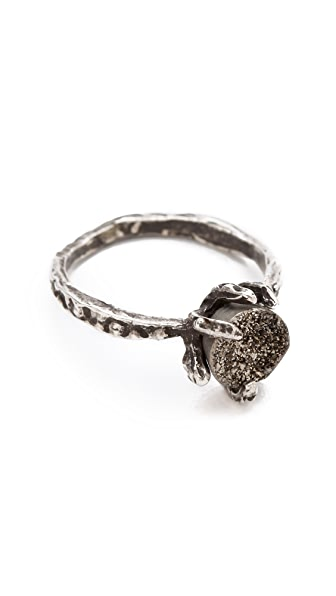 Lauren Wolf Jewelry Druzy Claw Ring
