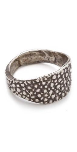 Lauren Wolf Jewelry Silver Stingray Signet Ring