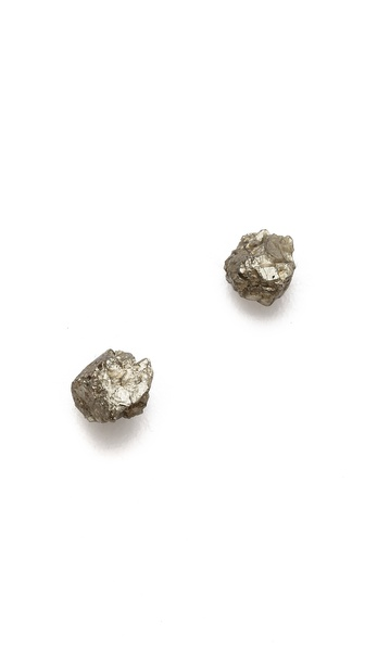Lauren Wolf Jewelry Pyrite Stud Earrings