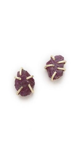 Lauren Wolf Jewelry Ruby Stud Earrings