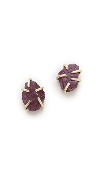 Lauren Wolf Jewelry Ruby Stud Earrings