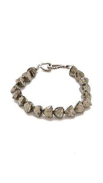 Lauren Wolf Jewelry Single Strand Pyrite Bracelet