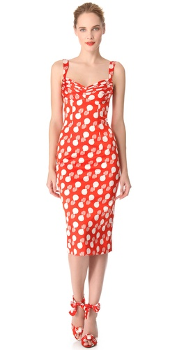 Shop L'Wren Scott Bomb Print Bust Pleat Dress and L'Wren Scott online - Apparel,Womens,Dresses,Day, online Store