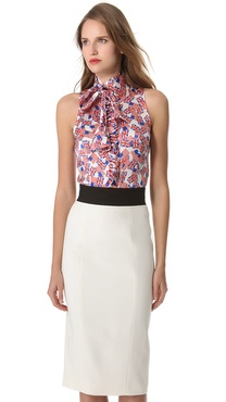 L'Wren Scott Bromance Tie Neck Blouse