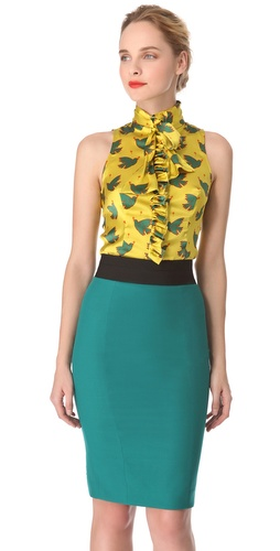 Shop L'Wren Scott Peace & Love Tie Blouse and L'Wren Scott online - Apparel,Womens,Tops,Blouse, online Store