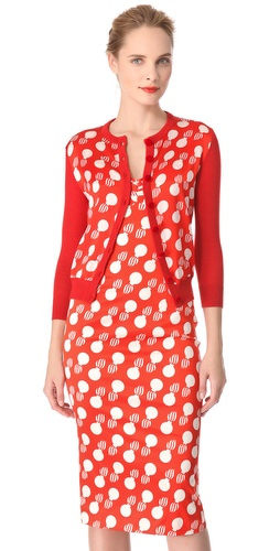 Shop L'Wren Scott Bomb Print Cardigan and L'Wren Scott online - Apparel,Womens,Sweaters,Cardigans, online Store