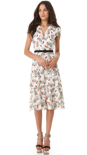 L'Wren Scott Sleeveless Printed Dress