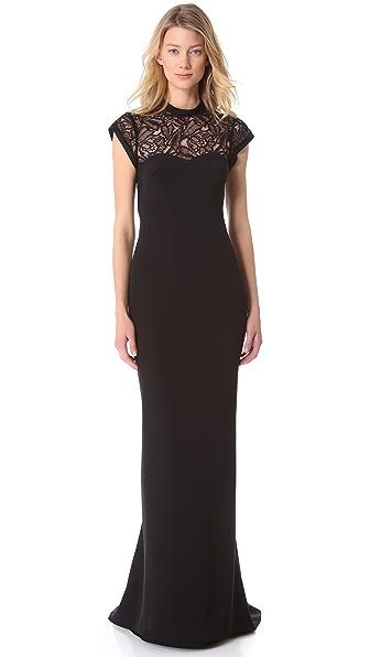 L'Wren Scott Cap Sleeve Gown