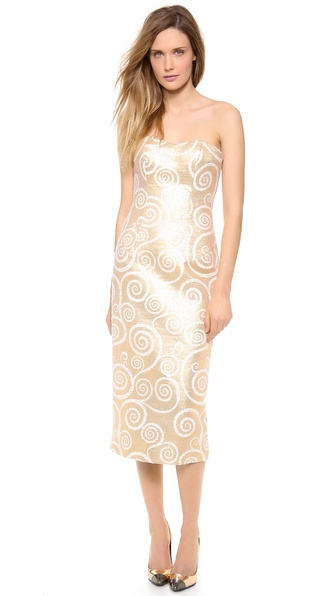 L'Wren Scott Strapless Detailed Dress