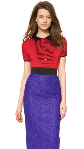 L'Wren Scott Short Sleeve Sweater