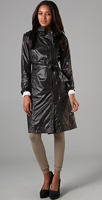 Mackage Long Rain Jacket with Hidden Hood