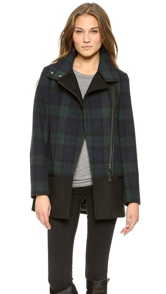 Mackage Berta Plaid Wool Coat