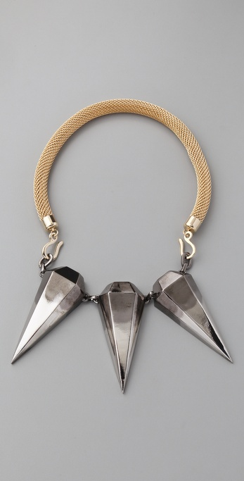 Made Her Think Triple Pendulum Spikes Necklace