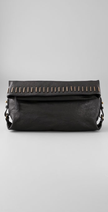 Madewell Studded Flapper Clutch
