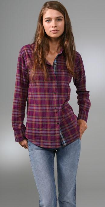 Madewell Mixed Plaid Boyfriend Shirt
