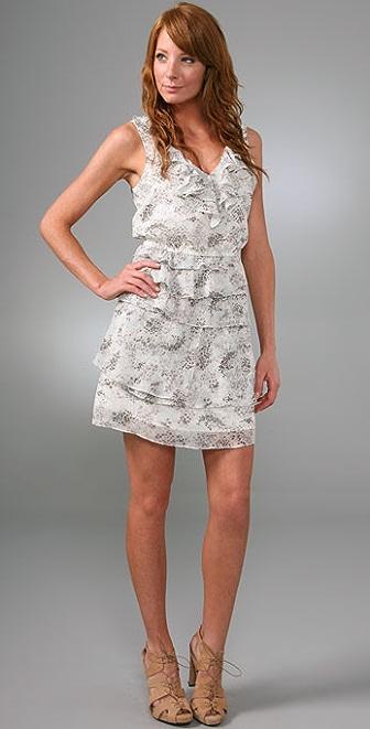 Madewell Fall Flowers Tiered Dress