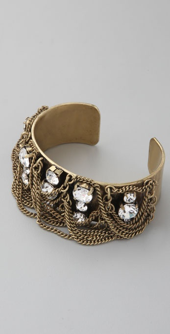 Madewell Crystals & Chain Fringe Cuff
