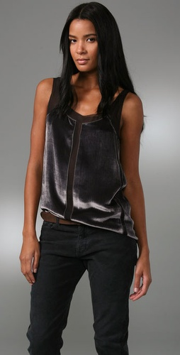 Madewell Velvet Panel Top