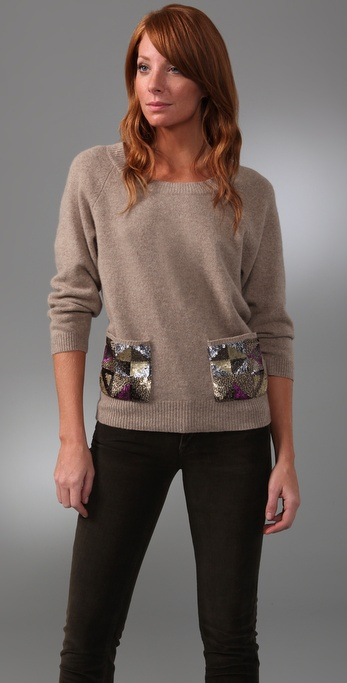 Madewell Sequin Pocket Sweater