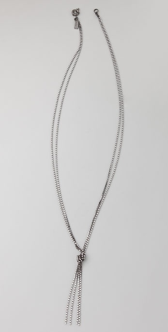 Madewell Mini Rhinestone Lariat Necklace