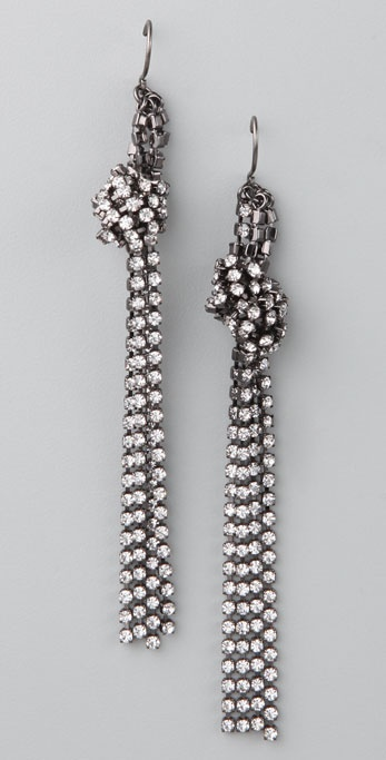Madewell Mini Rhinestone Knot Earrings