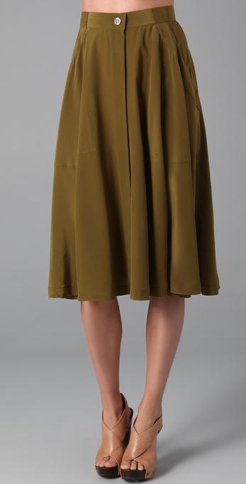 Madewell Draped Military Skirt