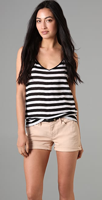Madewell Oasis Lace Stripe Tank