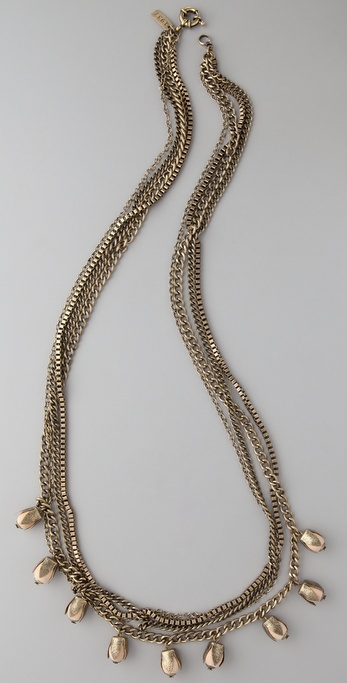 Madewell Rosebud Wood Long Necklace