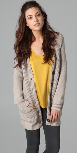 Madewell Polly Ribbed Cardigan