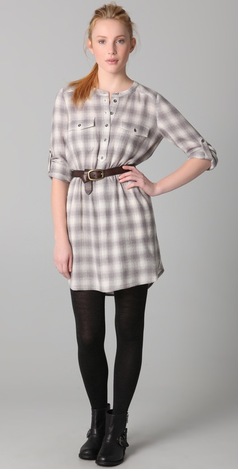 Madewell Wayward Plaid Shirtdress