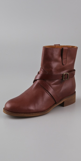 Madewell Cross Strap Flat Boots