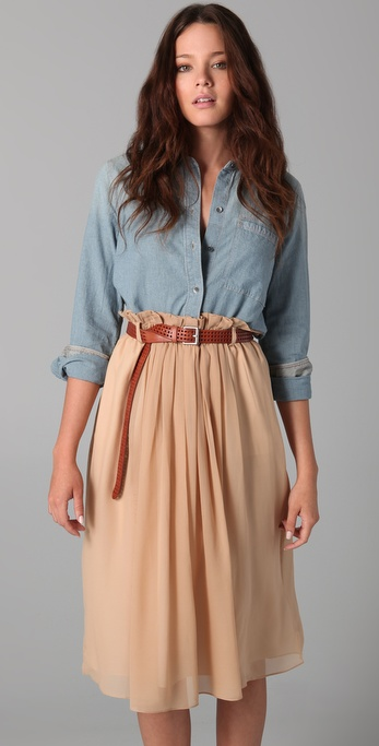Madewell Shrunken Chambray Boy Shirt