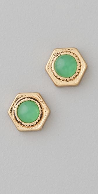Madewell Hexagon Stud Earrings